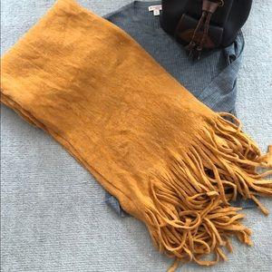 Anthropology mustard blanket scarf